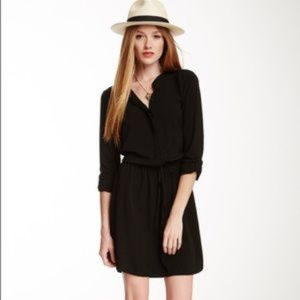 Splendid Black Button Down Shirt Dress Small